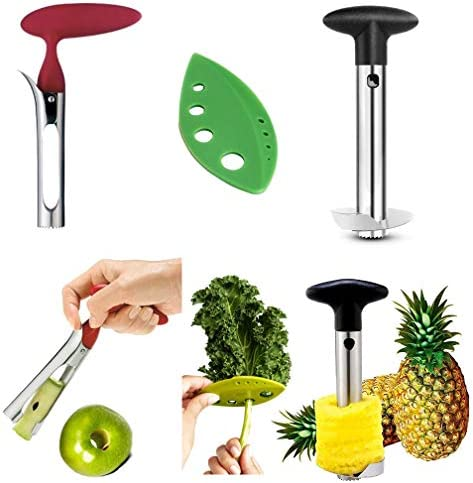 Apple Corer Pineapple Tool Herb Kale Stripper Lever Tool by BRIGHT KITCHEN Stainless Steel Pear product image