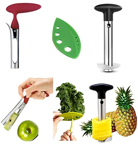 Apple Corer + Pineapple Tool + Herb Kale Stripper- Lever Tool by...