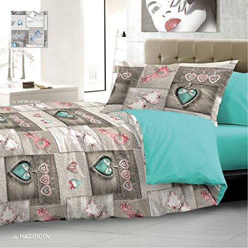 Coeur Rouge Coeur nuits Romantiques pour lit double en coton tr/ès fin New Pens/ées d/élicats Cupidon Parure de lit offre
