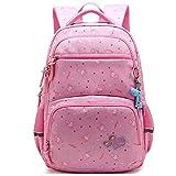 Schoolbag 6-12 años de Edad Las niñas niños de la Escuela de Super Light Weight niños Morral con...