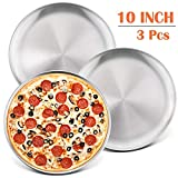 10-Inch Pizza Pan Round Pizza Tray, P&P CHEF Pizza Baking Tray Bakeware Set, Non-toxic & Healthy,...