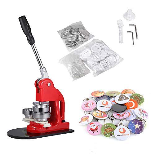 BEAMNOVA 2-1/4 Inch Button Badge Maker Machine Set 58mm with Circle Cutter (2-1/4 Inch Machine + 1000 Button Parts)