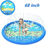 ANXEN Sprinkler for Kids, Splash Play Mat 68 Inches Baby Wading Pool for Learning, Summer Outdoor Inflatable Water Toy, Fun Sprinkler Pool, Swimming Pool for Babies, Toddlers