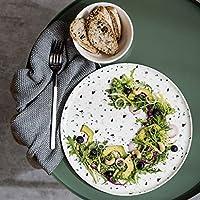 ボウルカラフルなテラゾ食器、家庭用スナック丸皿スープボウル(色:白、サイズ:プレート)