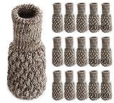 Zurci 24PCS-6 Set Chair Leg Socks Knit Non-Slip Table Floor...