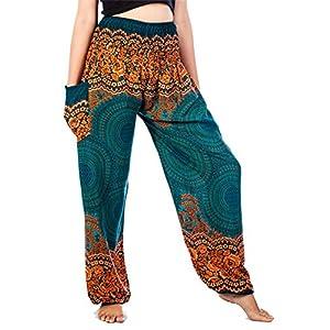 Lofbaz Mujer Harem Hippy Pantaloni Cintura elástica bonzaai Pantalones | DeHippies.com