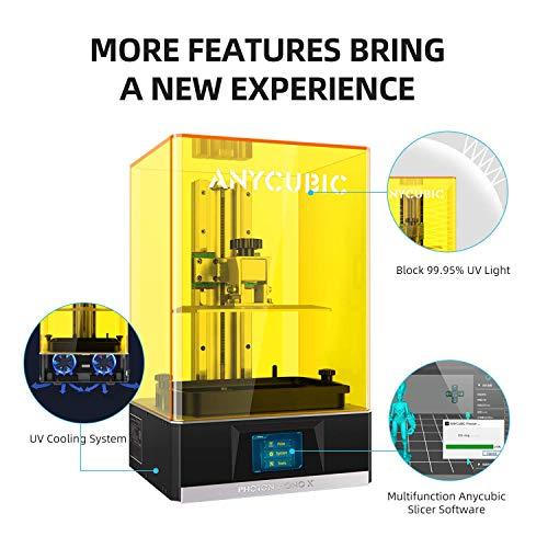 ANYCUBIC Photon Mono Impresora 3D, UV LCD de resina con pantalla de 6 pulgadas y velocidad de impresión rápida, 130 x 80…