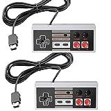 NES Classic Controlador [Turbo Edition] para NES Classic Edition Mini, SNES Classic 2017 – Joypad con Cable/Consola de Mando con Cable de 10 pies [2 Unidades]