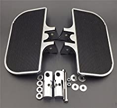 HTT Group Motorcycle Chrome Passenger Mini Floorboards Rear Footboards Foot Rest Pegs Mounts Fit Harley-Davidson Electra Glide Heritage Softail Fat Boy