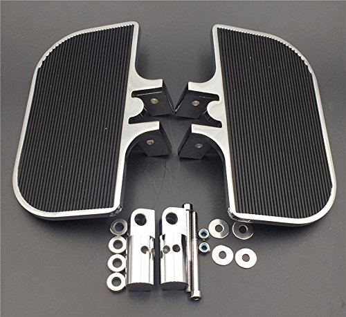 SMT-Chrome Passenger Mini Floorboards Rear Footboards Foot Rest Pegs Mounts Compatible With Electra Glide Heritage Softail Fat Boy [B01D0QWUXA]