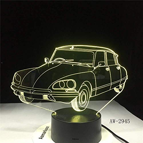 TIANXIAWUDI Acrylic Sports car Design 3D Gift Lights led Colorful Touch Remote Control USB 3D Night Light 7 Color Change Children s lamp 2945