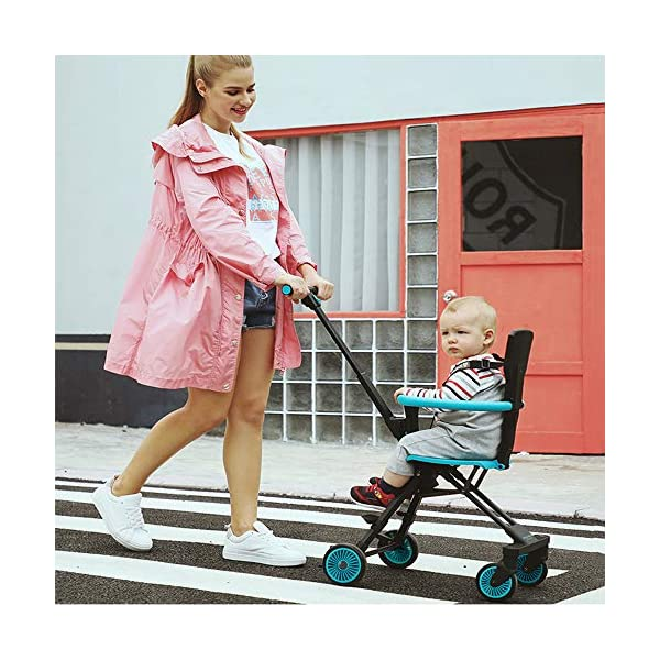 Makeups Foldable Portable Lightweight Baby Stroller Two Way Driving Baby Carriage Multipurpose Portable Baby Cart Adjustable Newborn Baby Crib Shock Absorption Can Sit Reclining Stroller Makeups Size: suitable from birth to 25 kg, length: 50.8 cm, width: 33 cm, height: 88 cm. Fold: 33cm * 16cm * 76cm. Ideal for plane, adapt to any car trunk. Designed with seat belt, non-slip grip, Top umbrella, seat cushion, bottom storage basket, all this will offer you great comfort. The stroller is equipped with adjustable belts to prevent the baby from falling. Have foot control brakes to stop at any time. 5