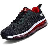 Chaussures de course à pied pour homme et femme - Avec coussin d'air - Absorption des chocs - Décontractées - Pour la marche, la gym, le jogging, le fitness et l'athlétisme - - Fa2 Blackred, 39 2/3 EU