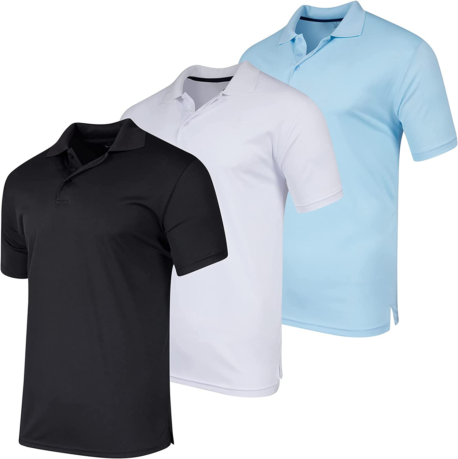 3 Pack: Men's Quick-Dry Short Polo Athletic S shop Indefinitely Performance Sleeve