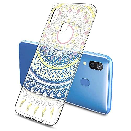 Oihxse Color Gradiente Funda Compatible con iPhone 6/6S 4.7', Transparente Silicona Ultra Delgado Anti-rasguños Protector Case, Circulo Puntilla Flor Diseño TPU Cover