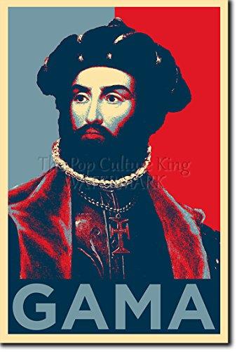 Vasco da Gama Kunstdruck (Obama Hope Parodie) Hochglanz Foto Poster - Größe: 12 x 8 Zoll