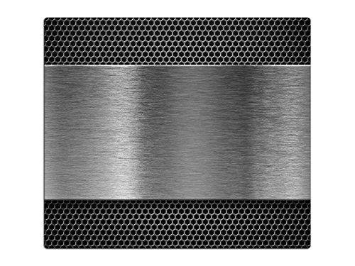 Herdabdeckplatten, Schneidebrett aus Glas, Edelstahl Optik HA116227504 Variante 1x Scheibe (1 Panels)