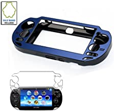 Blue Aluminium Metallic faceplate Protective Case Cover for Sony PS VITA Console