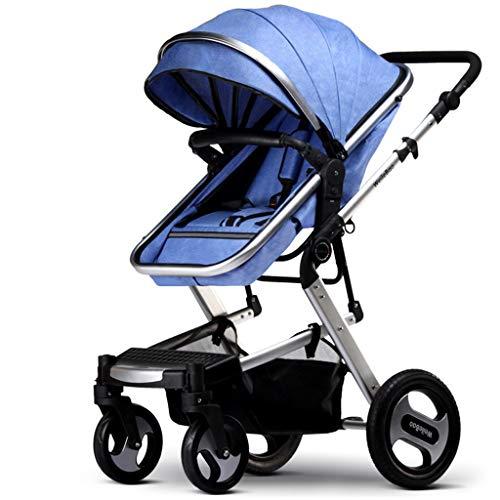 Kinderwagen, super licht, kan het vliegtuig meenemen, voor winkelen, one-stappen, geschikt voor kinderen van 0 tot 36 maanden. blauw