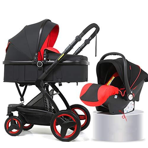 JIAX Cochecito estándar, cochecito de conveniencia frente y trasero, cochecito ligero con marco de aluminio, cesta de almacenamiento extra grande para viajes (color A1)
