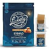 Lickety Qwik Melatonin Fast Dissolve Sleep Aid Strips - 60 Servings of Melatonin 5mg or 30 Servings of Melatonin 10mg w/Elderberry, Valerian Root & Chamomile