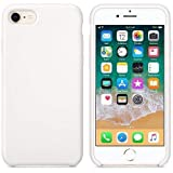 CABLEPELADO Funda Silicona iPhone 7/8 Textura Suave Color Blanco