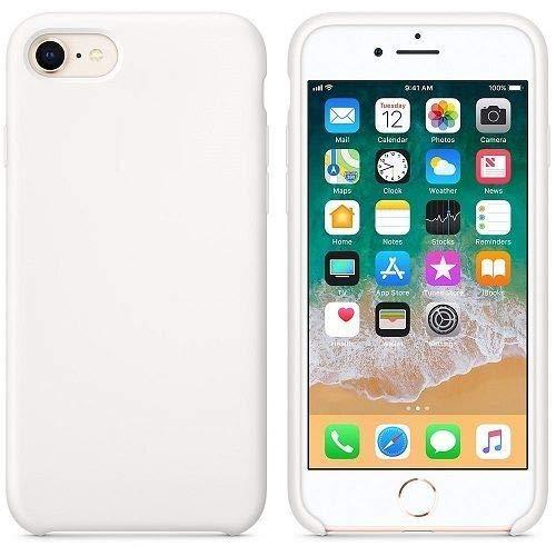 CABLEPELADO Funda Silicona iPhone 7 8 Textura Suave Color Blanco