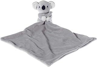 Apricot Lamb Stuffed Animals Security Blanket Gray Koala Infant Nursery Character Blanket Luxury Snuggler Plush (Gray Koala, 14 Inches)