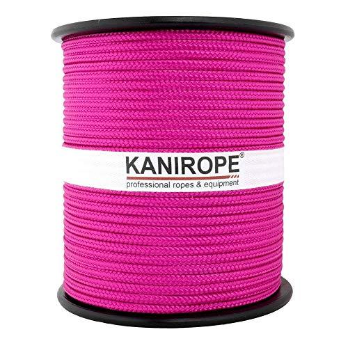 Kanirope® PP Seil Polypropylenseil MULTIBRAID 4mm 100m Farbe Pink (3150) 16x geflochten