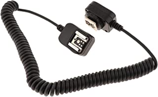 Baosity TTL Off Camera Flash Coiled Sync Hot Shoe Cord Cable for Canon 580EX/430EX/580EXII Speedlite