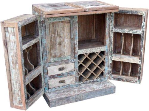 Guru-Shop Opvouwbare Toonbank Antiek Wit, Crèmewit, Hout, 112x180x60 cm, Eettafels Keukentafels