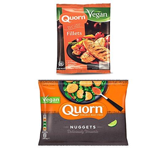 Quorn Pack de 2: NUGGETS QUORN VEGANO 280g & TROCITOS VEGETALES SABOR...