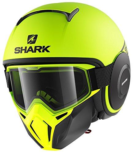Shark casco jet Drak Street talla neón negro amarillo, talla XL