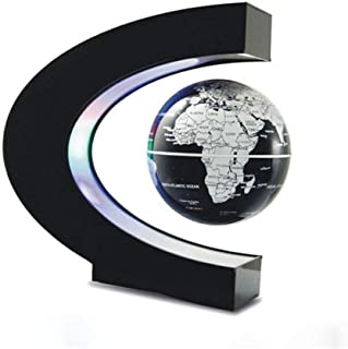 LQQFF Útiles Escolares Globo de levitación magnético en Forma de C de 3 Pulgadas de luz Azul Oficina decoración Regalo del Estudiante