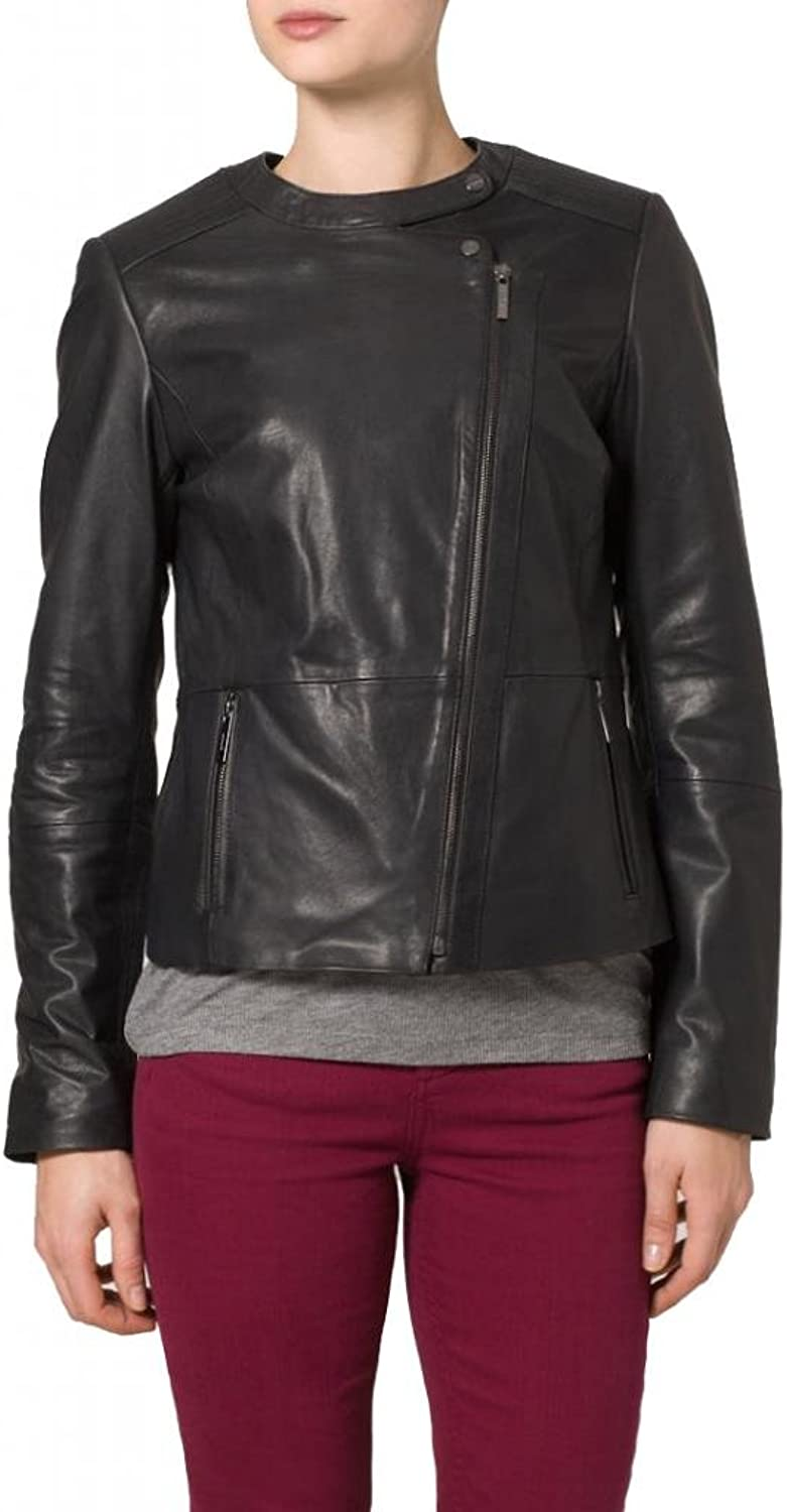 Women's Soft Ladies Real Leather Stylish Fitted Biker Jacket W127