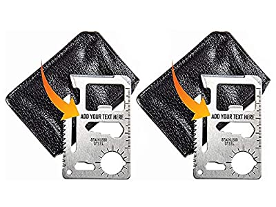 Stainless Steel 11 in 1 Beer Opener Survival Card Tool Fits Perfect in Your Wallet