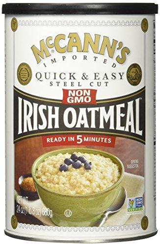 McCann's Irish Oatmeal, Quick & Easy Steel Cut Oats, 24 oz (680 g) - 2pcs