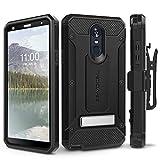 LG Stylo 4 Case, Evocel [Explorer Series Pro] Premium Full Body Case with Glass Screen Protector, Belt Clip Holster, Metal Kickstand for LG G Stylo 4 (2018), Black (EVO-LGSTYLO4-CC01)