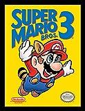 Super Mario con diseño 30 x 40 cm Bros. 3 NES diseño de con Marco