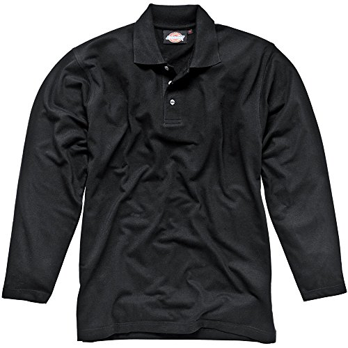 Dickies Langärmeliges Polo-Shirt schwarz BK XXL, SH21100