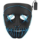 Lukis Masque Lumineux LED Halloween Cosplay Ghost Monstre Diable Fantôme Masques pour Décoration Fête Festival Party Carnaval Soirée Femme Homme