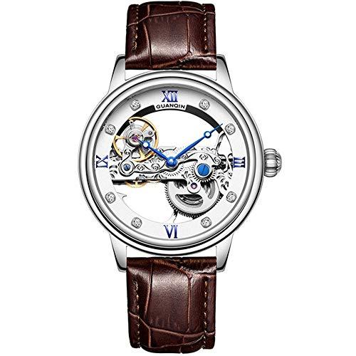 Reloj Esqueleto Hombre Automático Tourbillon Reloj mecánico Impermeable Luminoso Marca de Lujo Reloj de Lujo relogio Masculino
