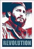 Poster 21 x 30 cm: Fidel Castro Revolution in Kuba von Alex