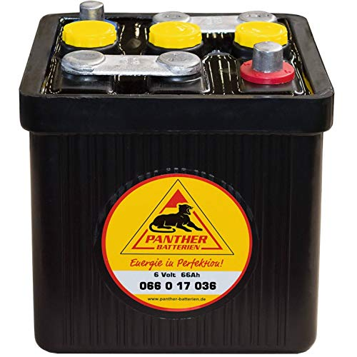 Panther Oldtimer-Batterie 6V 66Ah Autobatterie 06617 Starterbatterie Hartgummi