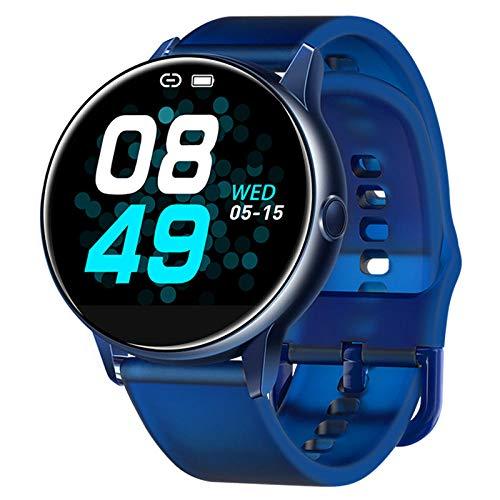 KYLN Smart Watch Rotondo Schermo a Colori Curvo Touchscreen a Schermo Intero modalità di Nuoto Impermeabile IP68 Fitness tracke-Blue