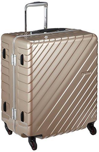 [ヒデオワカマツ] スーツケース フレーム ナロースクエア 軽量 無料預入 85-76530 保証付 80L 60 cm 4.3kg ゴールド