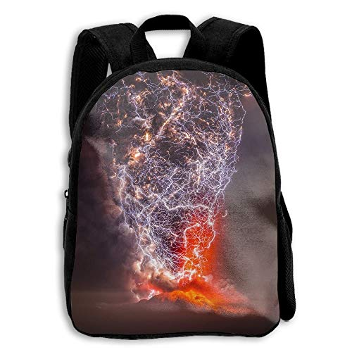ADGBag Children's Volcano Lightning Chile Backpack Schoolbag Shoulders Bag For Kids Mochila para niños