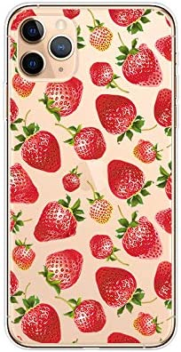 iPhone 11 Pro Max (6.5 inch) Case,Blingy's Fruit Style Transparent Clear Soft TPU Protective Case Compatible for iPhone 11 Pro Max 6.5