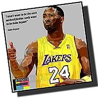 コービー・ブライアント ロサンゼルス・レイカーズ デザインA NBAバスケットボール 海外スポーツアートパネル 木製 壁掛け ポスター インテリア用 (26*26cm アートパネルのみ)