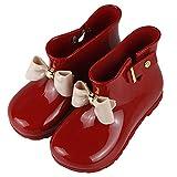 [Mulslect] キッズ 長靴 可愛いレインブーツ リボン 子供 女の子 雨の日 防水 人気